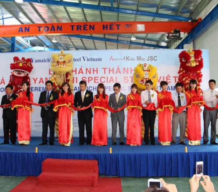 Opening Ceremony of Yamaichi Vietnam Special Steel Plant